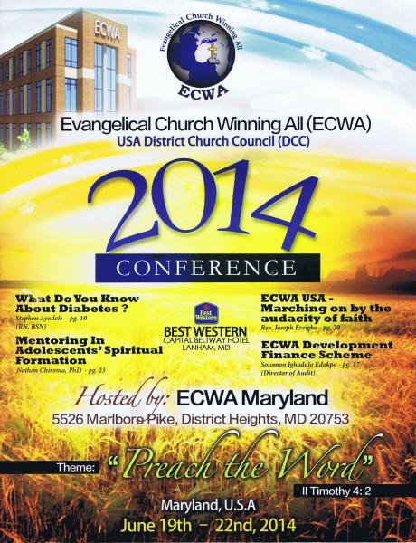 ECWA USA DCC National Conference, Lanham, MD 06-2014